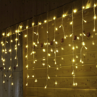 SVELTA LED Curtain Lights 8M 192 leds Garland Fairy Christmas Lights Gerlyanda Decorative For New year Holiday Party Wedding