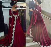 Newest Burgundy Ball Gown Evening Dresses with Cape Sweetheart Velvet Skirt Dubai Prom Gown Long Pageant Dress robe de soiree