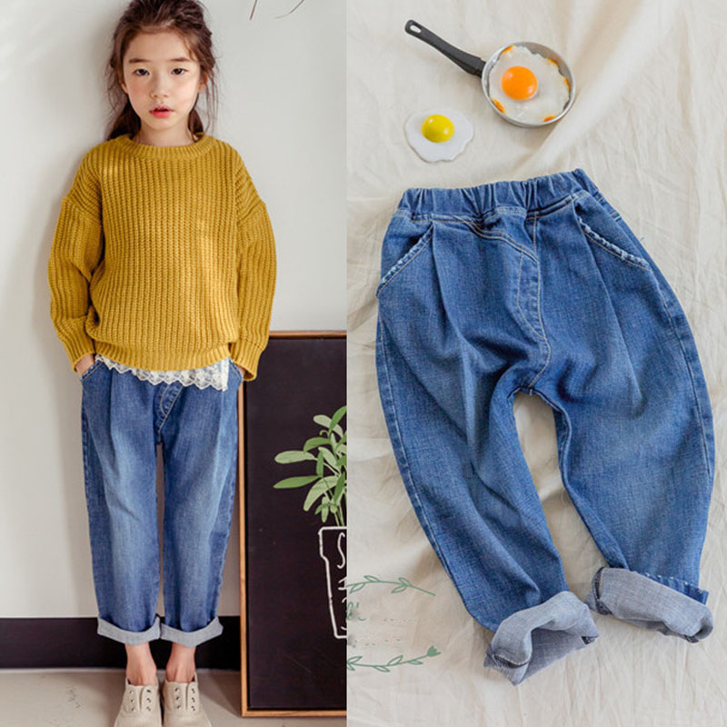 high quality cotton teenage girls jeans pants new 2018 summer spring autumn harm pant jeans for girls baby children long trouser 2017 famous designer brand upscale high quality cotton men jeans trouser european and american casual style pant for male jeans