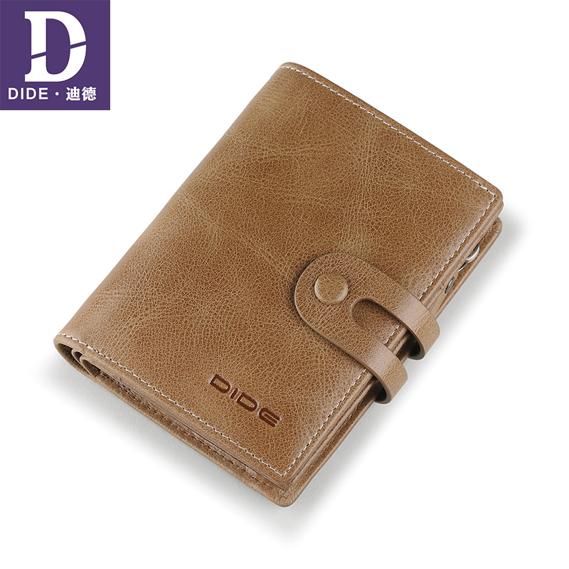 DIDE Brand Vintage Wallets Genuine Leather Men Wallet Coin Purse Male Zipper Walet Carder Holder Wallet Hasp Carteira Masculina luxury brand wallet male mens leather card holder business billfold zipper purse wallets men coin clutch carteira masculina zer