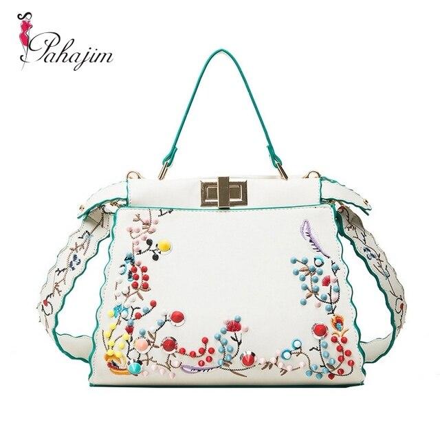 77bb857e998b Pahajim Women Peekaboo Bag Embroidery Designer Tote Big Handbag Shoulder  Bags Printing Rivet Waves Luxury Bags Purse