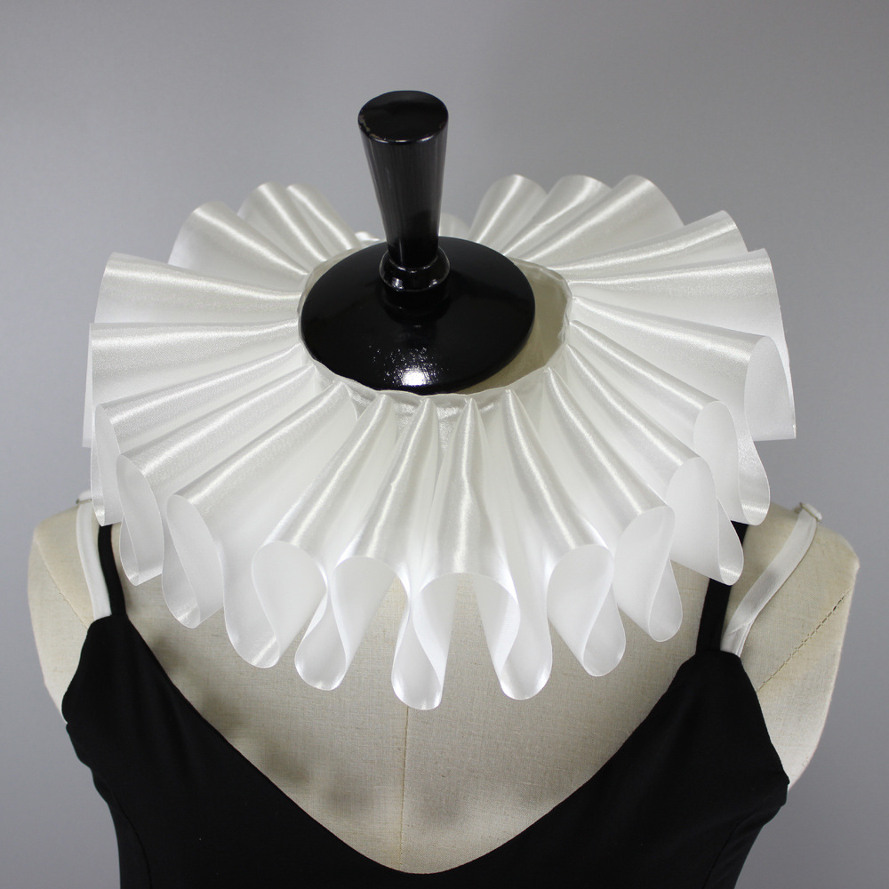 Jaderic 2019 New Fashion Victorian Gothic Style Women Neck Ruff Ruffled Collar Fasle Collar