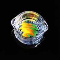 Color Glass Smoke Oil Container Oil Ring Ashtrays Glass Ashtray Dish Glass Oil Ring Ashtray Glass
