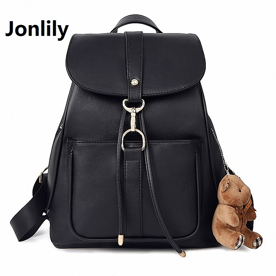 Jonlily Women s Backpack Fashion Leisure bag All match Student school girl bag Fashion college