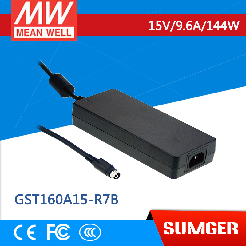 [Sumger2] MEAN WELL original GST160A15-R7B 15V 9.6A meanwell GST160A 15V 144W AC-DC High Reliability Industrial Adaptor [sumger] mean well original gst120a15 r7b 15v 7a meanwell gst120a 15v 105w ac dc high reliability industrial adaptor