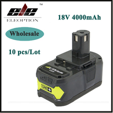 Wholesale 10x High Capacity P108 18V 4000mAh Li-Ion For Ryobi RB18L40 P300 P400 Rechargeable Power Tool Battery Ryobi ONE+