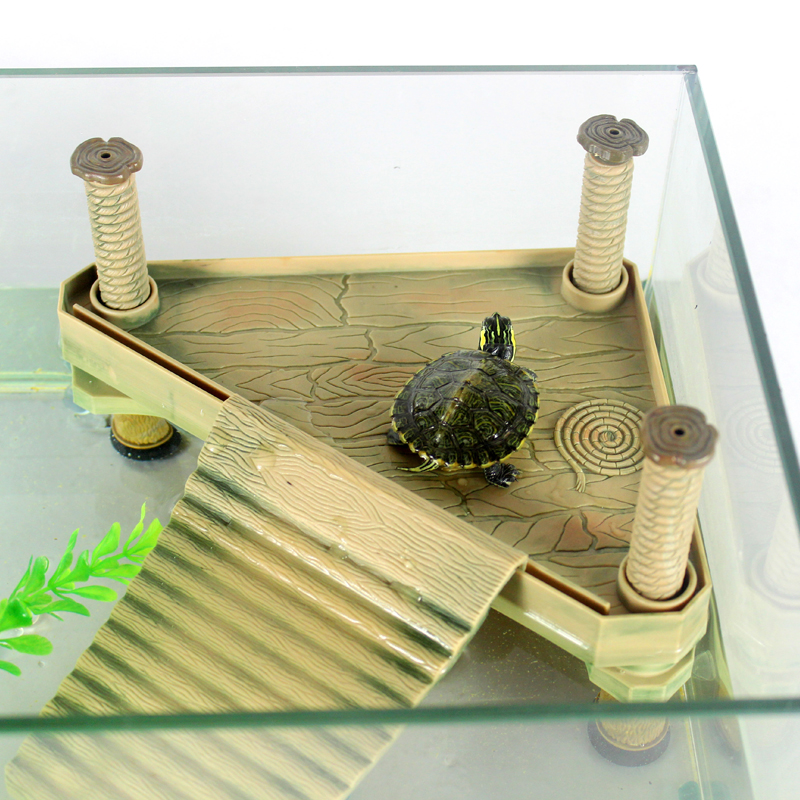 Turtle Island Klättring Basking Platform Turtle Groda Floating Island Aquatic Pet Reptile Supplies Turtle Tank Aquarium Prydnad