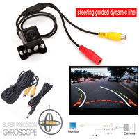 With Steering Dynamic Guided Parking Line Markings Car Rear View CCD Camera Back Len 135 Degrees