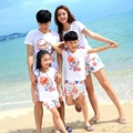 Free shipping Summer family look clothes outfits Holiday beach women men girls  boys kids sets t shirt Pants