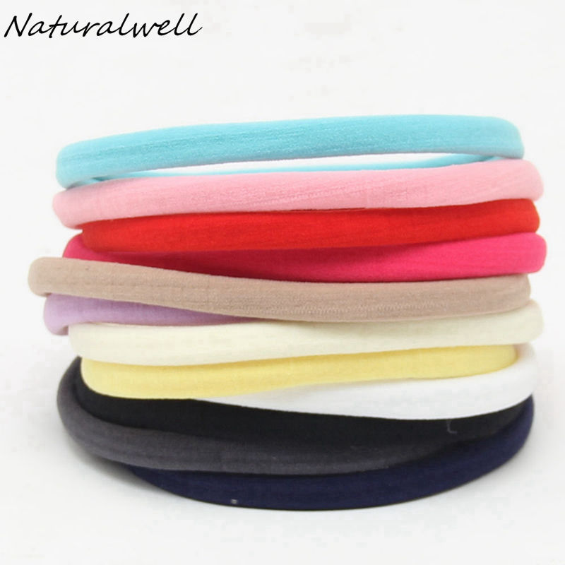 Naturalwell Elastic Children Nylon Hair Band Kids Colorful bandage Baby Hair Accessories Elastic Head Band Headwear HB156 10pcs set nylon headband for baby girl hair accessories elastic head band kid children fashion headwear