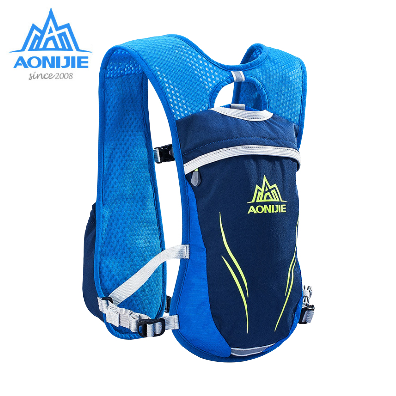 AONIJIE Running Marathon Hydration Nylon Outdoor Running Bags Hiking Backpack Vest Marathon Cross Country Cycling Backpack 5.5L стоимость