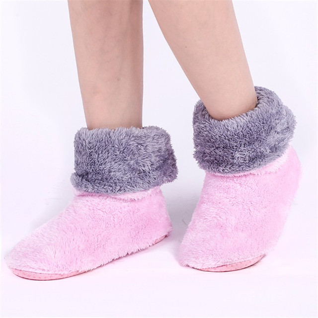 ToLaiToe Free Shipping Home Soft Plush Home Shoes Slippers Coral Fleece Indoor Floor Sock Indoor Slipper Winter Foot Warmer Best