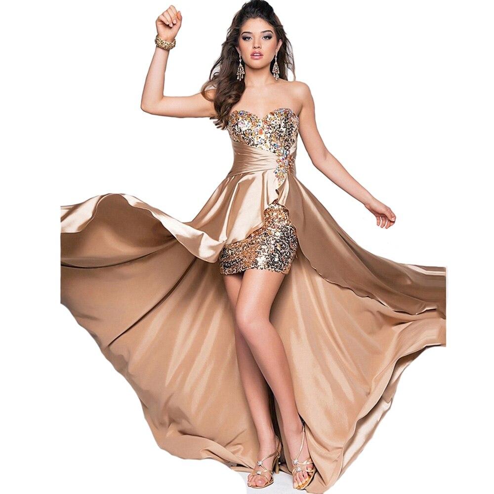 Robe de soirée 2019 courte devant longue dos élégant robes de soirée bal formel robes de grande taille robe de soirée sur mesure