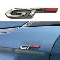 1-50 adet 3D Stereo GT Hattı Harfler Amblem Sticker Krom Peugeot 206 307 308 407 207 208 508 2008 3008 Gövde Aksesuarları