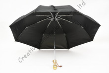 Skull handle,creative umbrella,2 times black coati