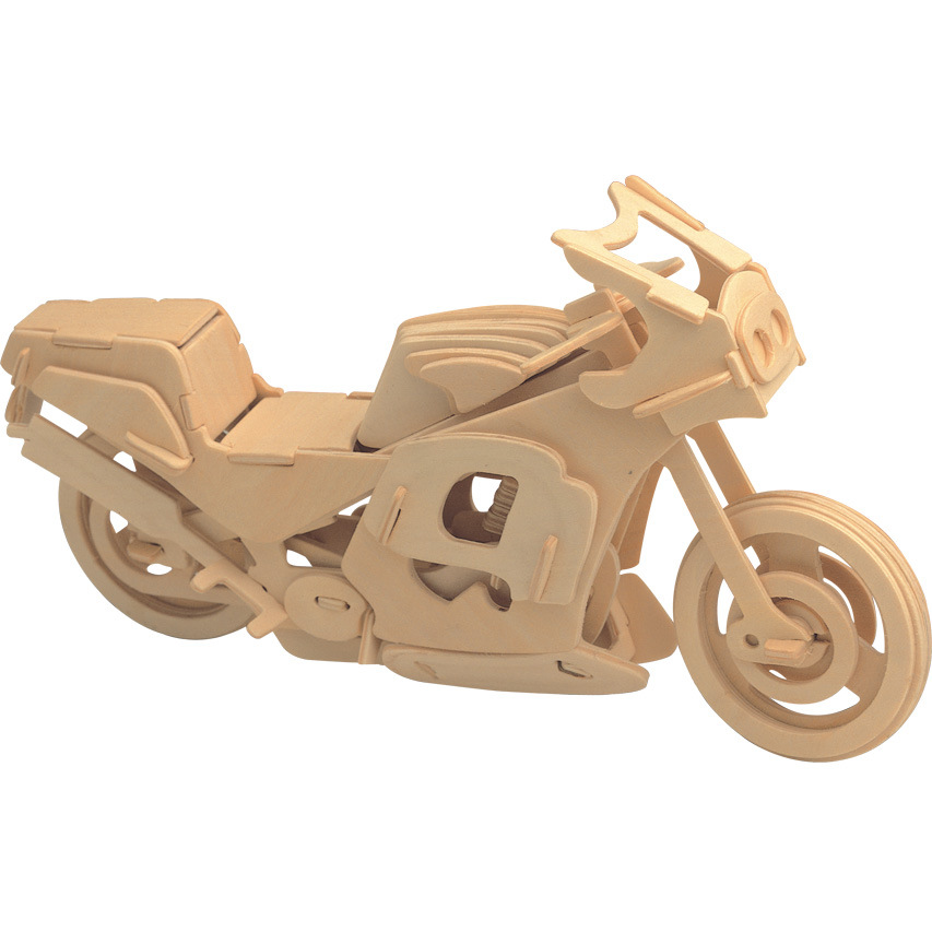 Freeshipping Scale Educational Toys Wooden Racing Motorcycle 3D Model 3D Puzzle