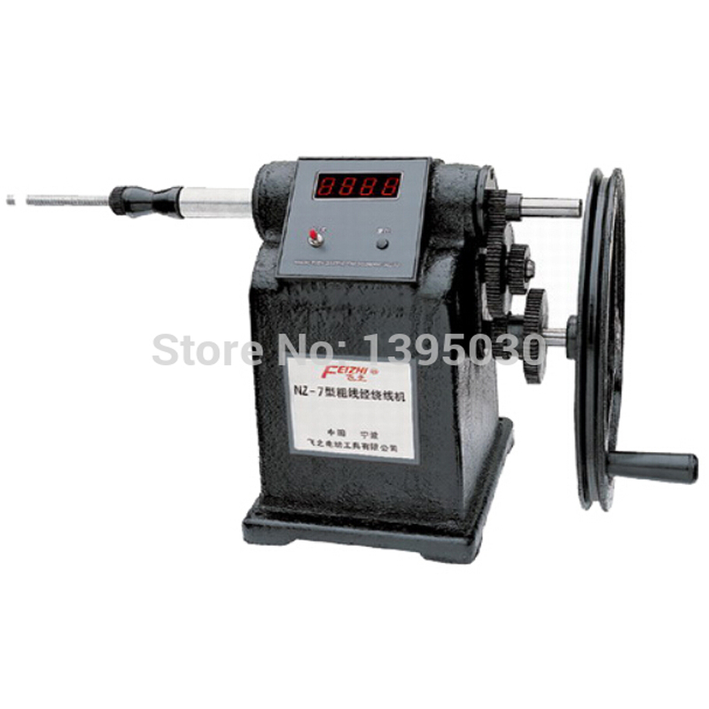 1pcs High quality winding machine NZ-7  Manual Hand Coil Counting Winding Winder Machine for thick wire 2.5mm 2pcs lot nz 5 manual winding machine dual purpose hand coil counting winding machine winder freeshipping by express