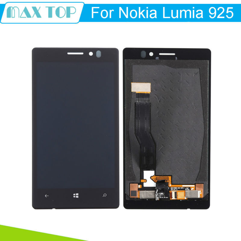 Подробнее о For Nokia Lumia 925 LCD Display with Touch Screen Digitizer Sensor Full Assembly Black Replacement Parts Free Tracking 5pcs lot black for fly iq4503 full lcd display with digitizer touch screen sensor glass assembly parts free tracking no