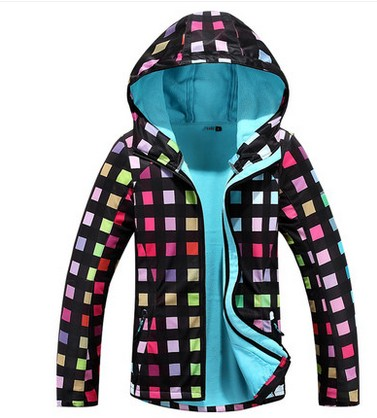Gsou Snow womens colorful grids soft shell breathable fleece coat ladies spring autumn winter outdoor sports jacket waterproof jinbei em 35x140 grids soft box
