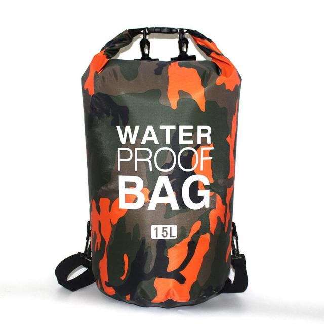 Details about  /PVC Camouflage Waterproof Backpack Portable Outdoor Sport Rafting Bag River