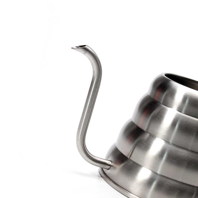 Gooseneck чайник кофе со встроенным термометром, нержавеющая сталь залейте над кофейником/чашка кофе/молочник для кофе для кафе и чая