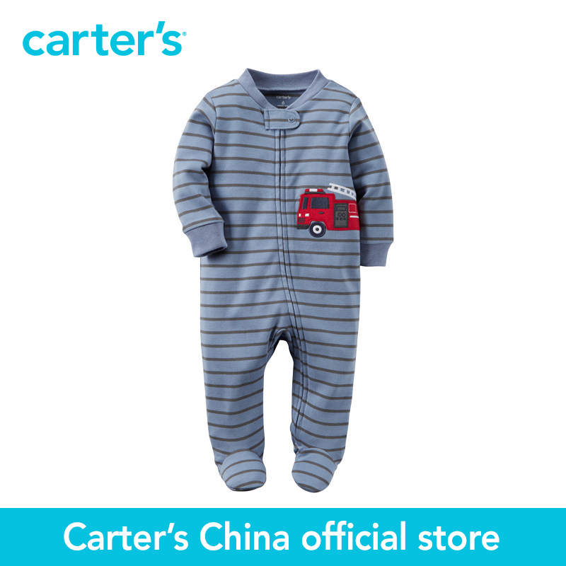 Carter's 1 pcs baby children kids Cotton Zip-Up Sleep & Play 115G184, sold by Carter's China official store  carter s 1 pcs baby children kids long sleeve embroidered lace tee 253g688 sold by carter s china official store