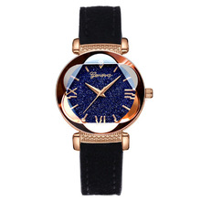 купить 2019 Best Starry Sky Watch Women Bracelets Luxury Quartz Leather Ladies Watch Fashion Roman Numerals Gift Clock relogio feminino по цене 230.33 рублей