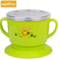 2pcs Children S Tableware Set 304 Stainless Steel Bowl Spoon Baby Suction Bowl Dinnerware Set
