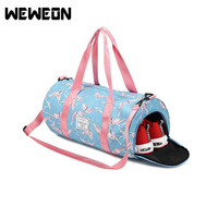 Portable Gym Training Bag With Shoes Compartment Unisex Sports Fitness Bag Hot Sale Travel Bag Training