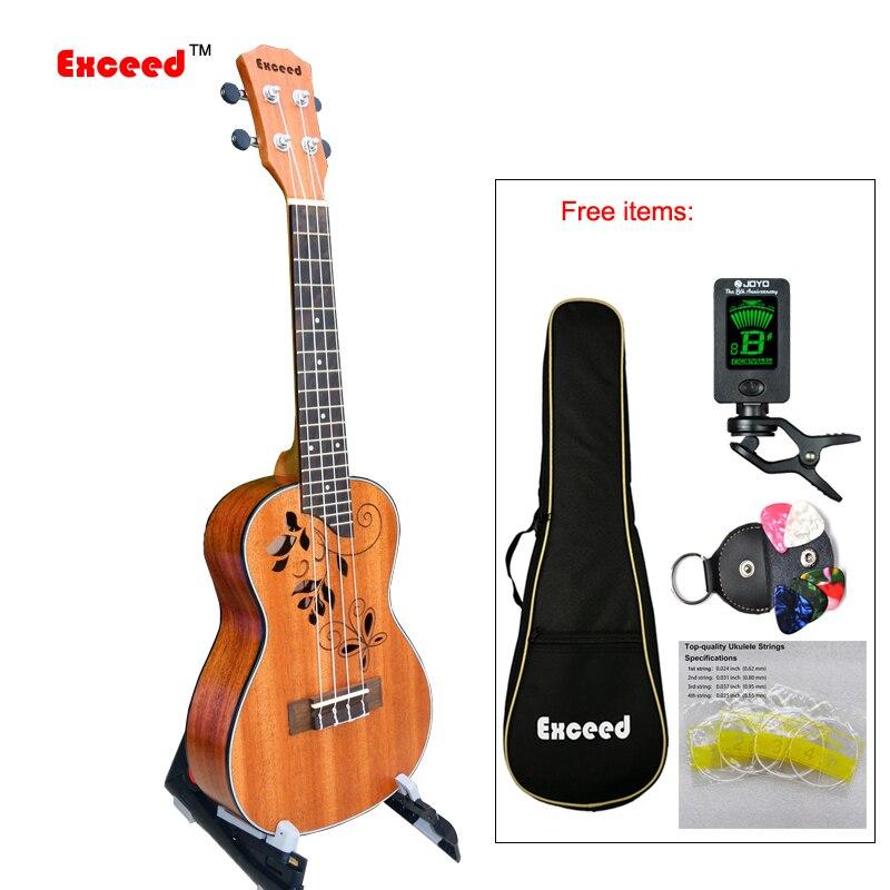 Instrument à cordes artisanal de taille de Concert de guitare ukulélé de 23 pouces pour la Performance professionnelle à domicile débutant unisexe