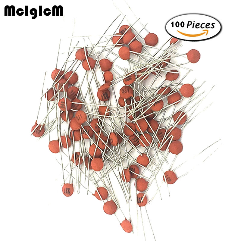 MCIGICM 100pcs 50V Ceramic Capacitor Assorted Kit Assortment Set From 1pF To 1nF 10nF 15nF 22nF 100nF