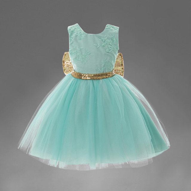 Online Shop Baby girls clothes flower girls wedding dresses pink ...