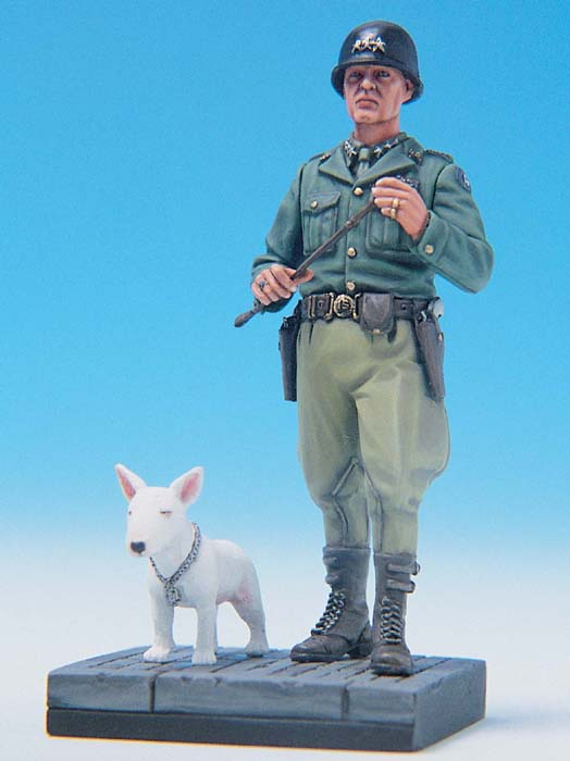 pre order-Resin toys L0086 US GENERAL PATTON & WILLIE W/BASE Free shipping pre order resin toys l0117 us oif soldier at rest free shipping