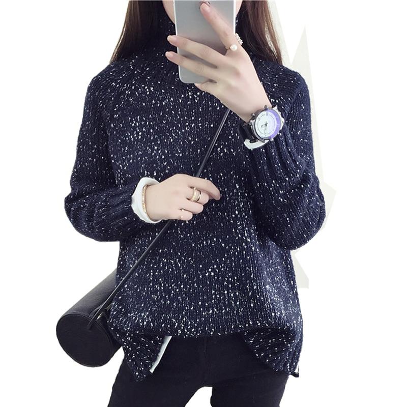 2019 Primavera Mujer Lana Suéter informal de punto flojo Gargantilla - Ropa de mujer