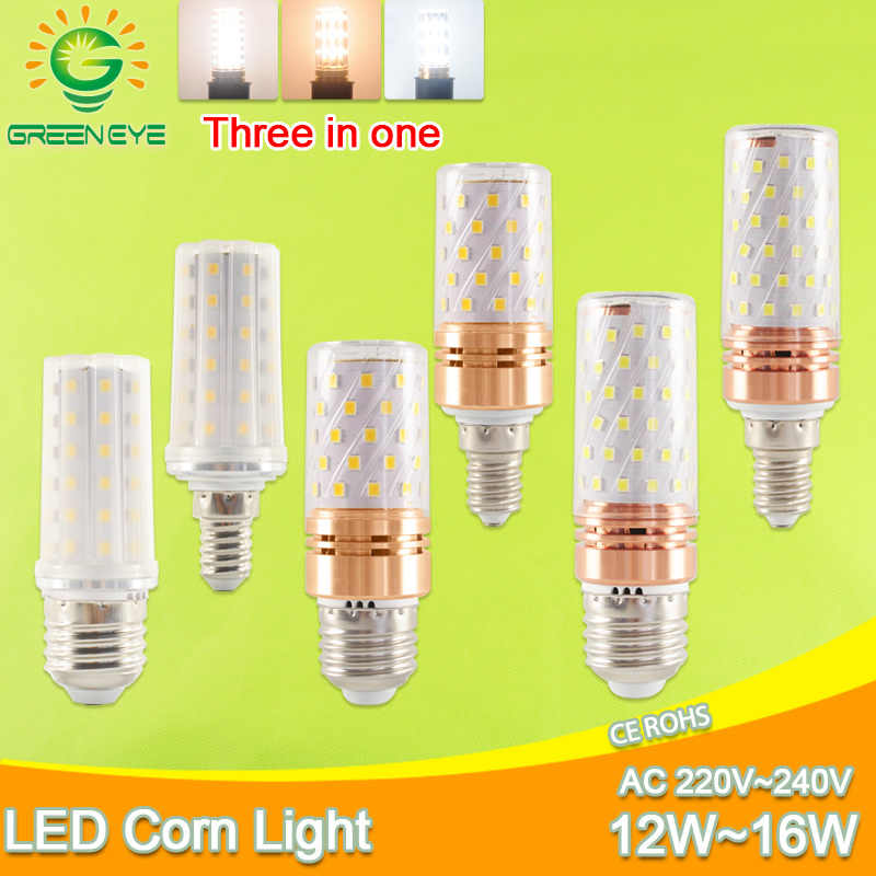 E27 LED Bulb E14 LED Lamp AC 220V 240V 12W 14W 16W SMD2835 Corn led Bulb Chandelier Candle LED Lighting For Home Decoration