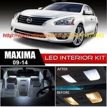 Free Shipping 14Pcs/Lot 12v Xenon White/Blue Package Kit LED Interior Lights For 09-14 Nissan Maxima