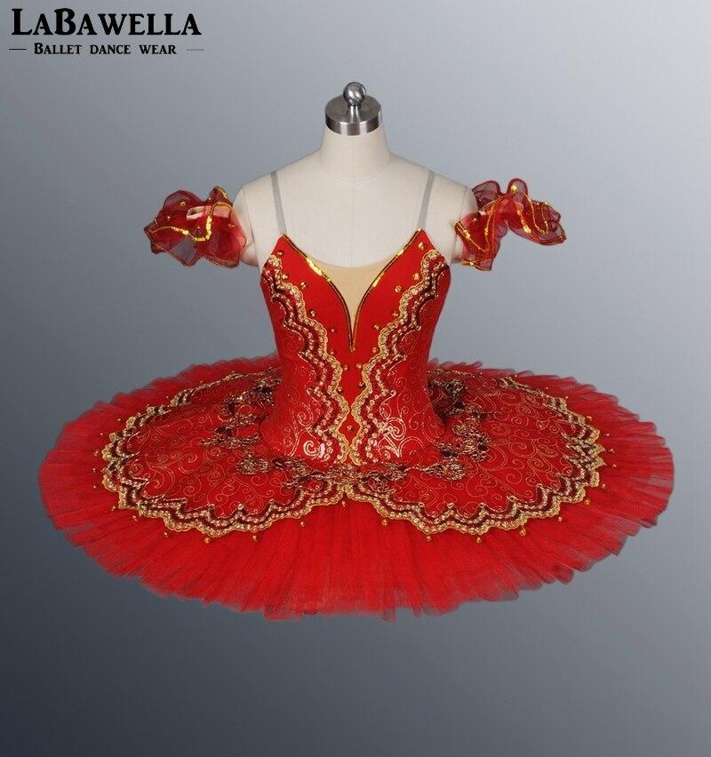 Red Paquita Platter Stage Costume BT8941E Classical Professional Ballet Tutus Girls Spanish Ballerina Nucracker  Kids