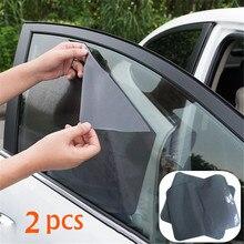 2 шт. 42x38 см DIY автомобильный солнцезащитный козырек пленка защита от солнца на окно черный ПВХ солнцезащитный козырек боковое окно щит с небольшими отверстиями