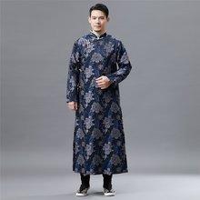 89524bff295 Traditionnels chinois vêtements pour hommes mâle pardessus survêtement  oriental hiver tranchée manteau hommes trench vêtements 2.
