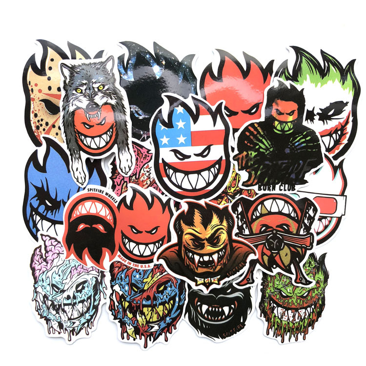18 Pcs/set Skateboard Stickers Spitfire Sticker Surf Skate Scooter Mobile Tablet 2019