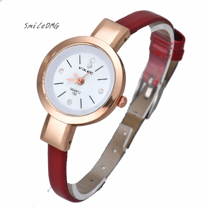 SmileOMG Hot Sale Candy Color Women Lady Thin Strap Quartz Wrist Watch Rose Golden Dial Christmas Gift Free Shipping ,Sep 6 smileomg hot sale new fashion women crystal stainless steel analog quartz wrist watch bracelet free shipping sep 2