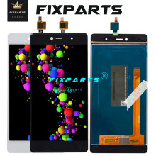 Black 5.2 Original Tested LCD Display Wiko Fever 4G Touch Screen Digitizer Assembly Replacement parts + tools