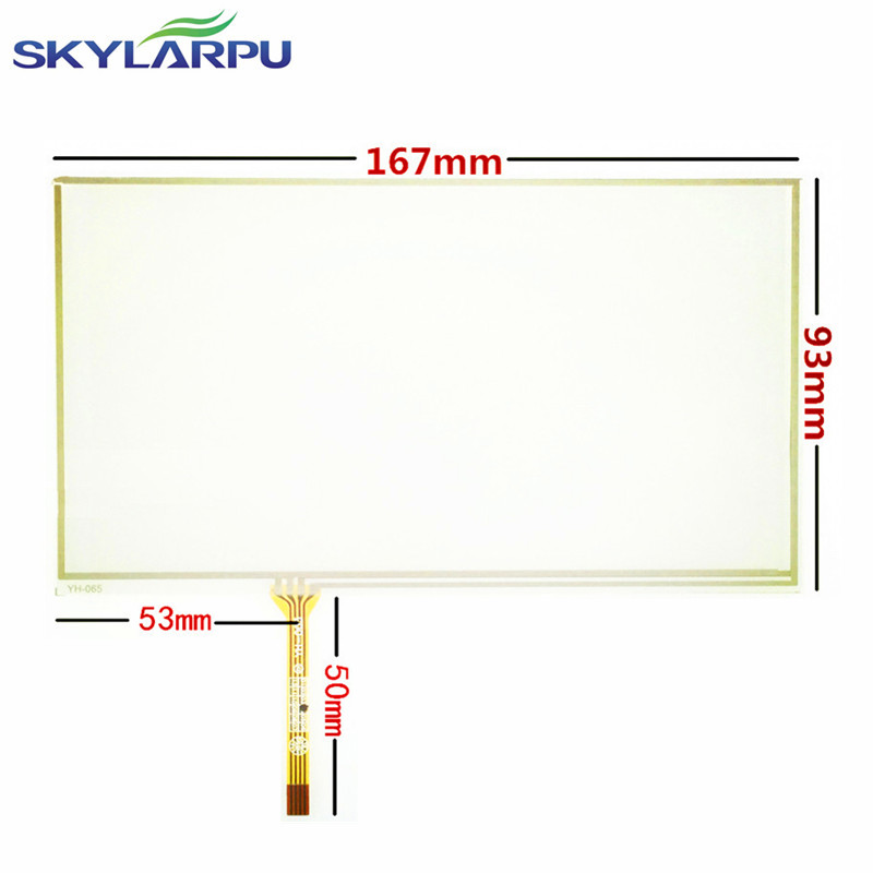 skylarpu New 6.9 inch 6.95 inch 167*93mm Touch Screen Panels for 167mm*93mm GPS Touch screen digitizer panel replacement wholesale new 4 3 inch touch screen panels for garmin zumo 350 lm 350lm gps touchscreen digitizer panel replacement