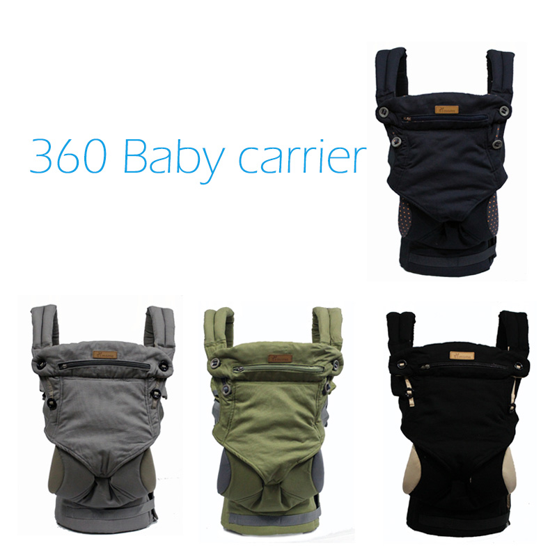 2018 четыре позиции 360 Baby Carrier Универсальный Дышащий младенческой Перевозчик Рюкзак переноска для детей малыша слинг обёрточная бумага подтя...