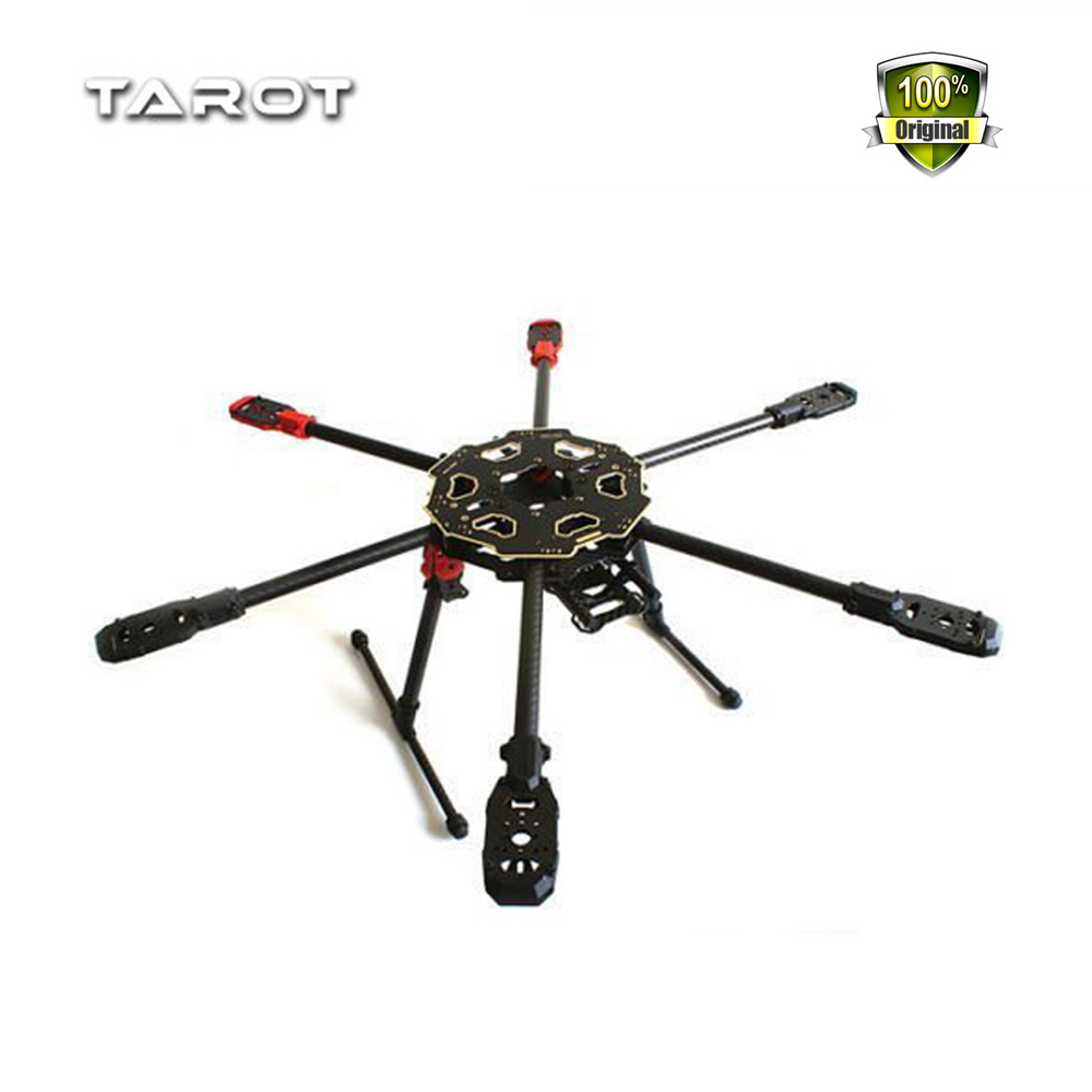 Weyland Tarot 680PRO Pure Carbon Fiber Rack 680 Folding 6 axis Hexacopter Aircraft Drone RC Frame with Landing Skid Gear TL68P00 jmt j510 510mm carbon fiber 4 axis foldable rack frame kit with high tripod for diy helicopter rc airplane aircraft spare parts