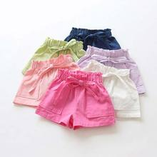 Kids Shorts Candy-Color Toddler Girls Cotton for Clothing Mix New-Arrival