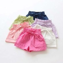 Kids Shorts Toddler Girls Candy-Color Cotton for Clothing Mix New-Arrival