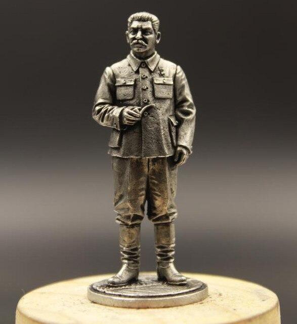 ברית המועצות יוסף ויסריונוביץ סטלין פח מתכת ברית המועצות חייל 1/30 65mm בית שולחן העבודה קישוט מותאם אישית ממנטו מתנות