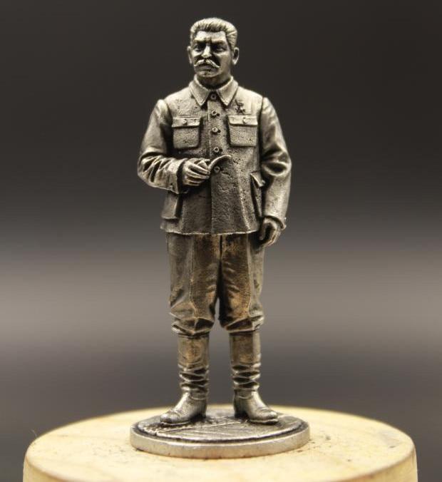 Soviet Union Joseph Vissarionovich Stalin Tin Metal USSR Soldier 1/30 65mm Home Desktop Decoration Customized Memento Gifts