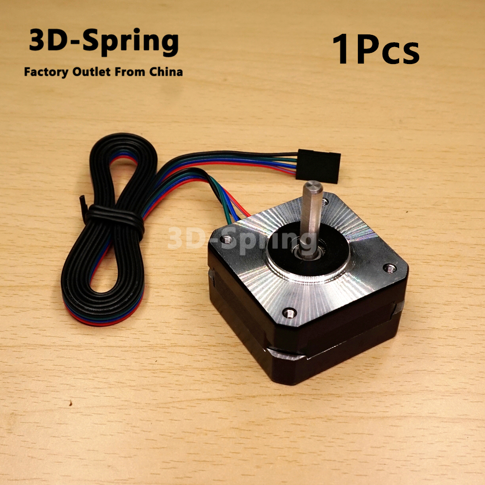 1Pcs Titan Extruder Stepper Motor 4-lead Nema 17 22mm 42 motor 3D printer extruder for J-head bowden 12V 1A 16N.cm 3d printer parts tevo black widow titan step motor for titan extruder 3d printer extruder 42 42 23mm for j head bowden